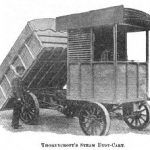 Thornycroft Steam Dust, the invention of the dumpster Cart
